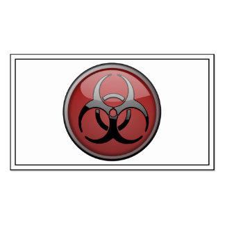 Tóxico del BioHazard Tarjetas Personales