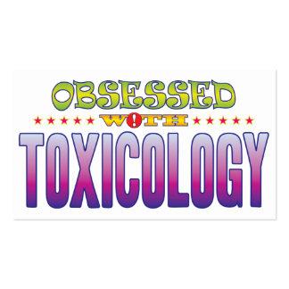 Toxicología 2 obsesionada tarjetas de visita