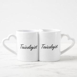 Toxicologist Artistic Job Design Couples' Coffee Mug Set