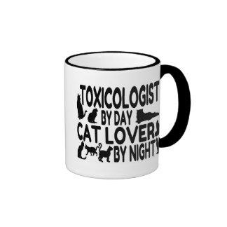 Toxicólogo del amante del gato taza de café