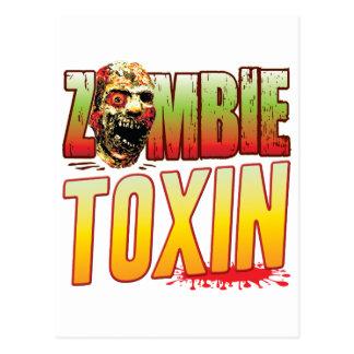 Toxin Zombie Head Postcard