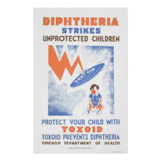Toxoid Prevents Diptheria 1941 WPA Poster