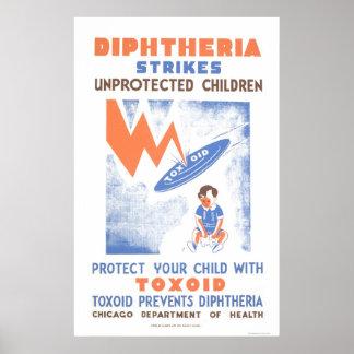 Toxoid Prevents Diptheria 1941 WPA Print
