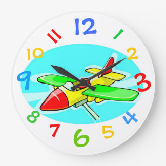 Toy Airplane Clock With Colorful Numbers