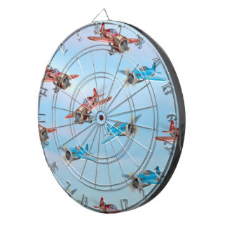 Toy Airplanes Dartboard With Darts