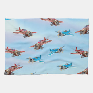 Toy Airplanes Pattern Hand Towels