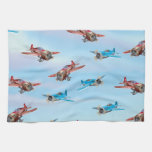 Toy Airplanes Pattern Kitchen Towels