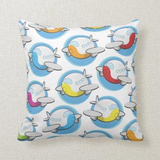 Toy Airplanes Throw Pillows
