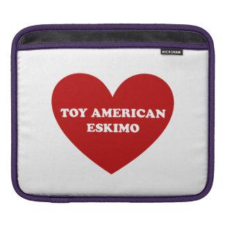 Toy American Eskimo Dog iPad Sleeves