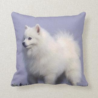 Toy American Eskimo Throw Pillow