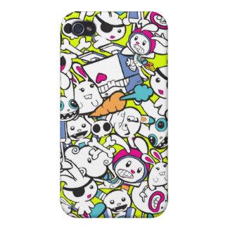 toy_art_bunny_stamp_II_by_mariliawonka iPhone 4 Funda