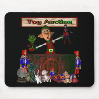 Toy Auction Elf holding toys and more at feed Mouse Pad