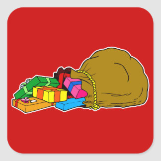 toy bag spilling square sticker