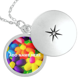 Toy Balloon Flowers Locket Necklace