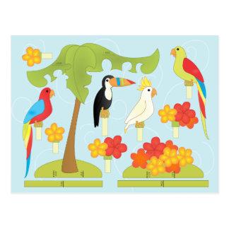 Toy Birds Postcard