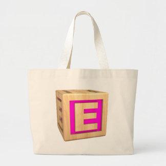 Toy Block E Jumbo Tote Bag