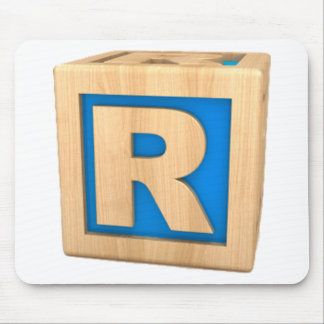 Toy Block R Mouse Pad
