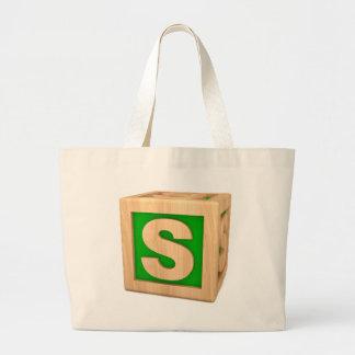 Toy Block S Jumbo Tote Bag