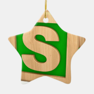 Toy Block S Ceramic Ornament