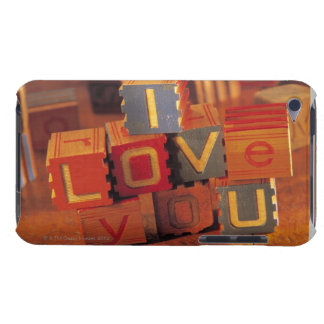 Toy blocks spelling out I love you iPod Touch Case-Mate Case