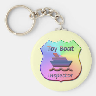 Toy Boat Inspector Badge-1 Basic Round Button Keychain