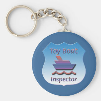 Toy Boat Inspector Badge Basic Round Button Keychain