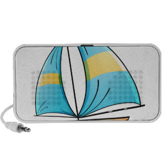 Toy boat notebook speakers