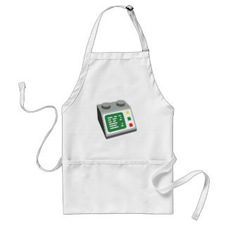 Toy Brick Computer Console Adult Apron