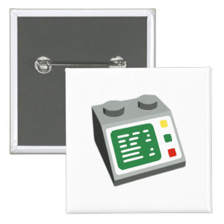 Toy Brick Computer Console Button
