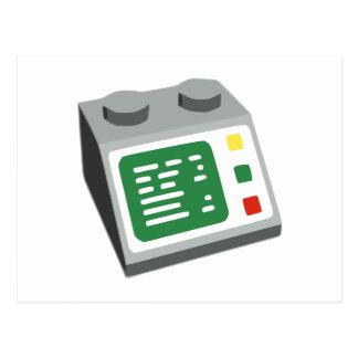 Toy Brick Computer Console Postcard