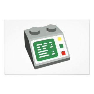 Toy Brick Computer Console Stationery Design