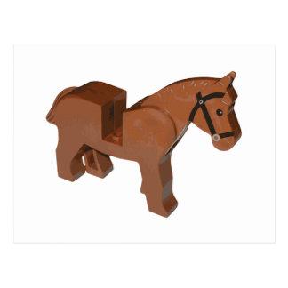 Toy Brick Horse Postcard