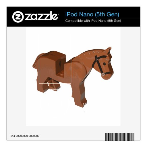 Toy Brick Horse Decals For iPod Nano