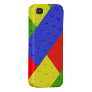 Toy Building Blocks Primary Colors iPhone 4 Case