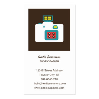 Toy Camera (Action S) Photographer Profile Card Business Card