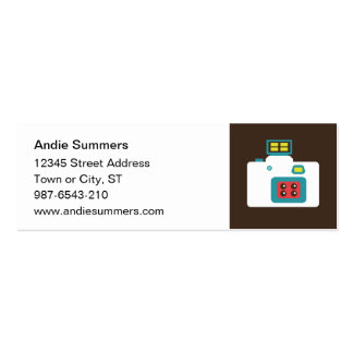 Toy Camera (Action S) Profile Card Business Card Template