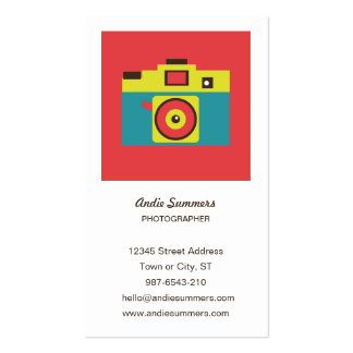 Toy Camera (CMYK) Photographer Profile Card Business Card