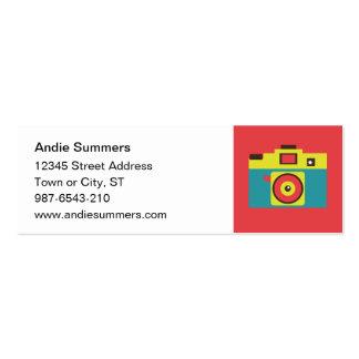 Toy Camera (CMYK) Profile Card Mini Business Card