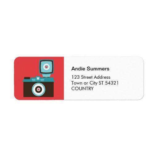 Toy Camera (Diana) Address Label