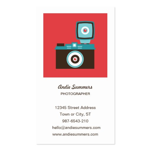 Toy Camera (Diana) Photographer Profile Card Double-Sided Standard Business Cards (Pack Of 100)