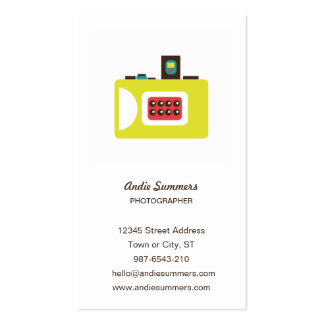 Toy Camera (Super S) Photographer Profile Card Business Card