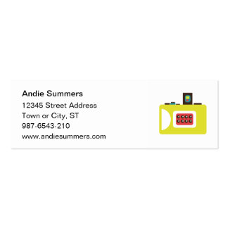 Toy Camera (Super S) Profile Card Mini Business Card