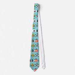 Toy Cameras (Blue) Tie tie