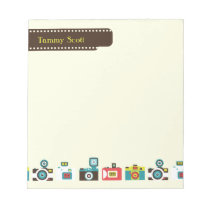 Toy Cameras Personalized Notepad