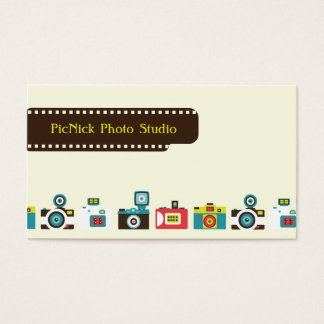 Toy Cameras Photography Business Card