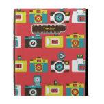 Toy Cameras (Red) iPad Caseable Case iPad Folio Cases