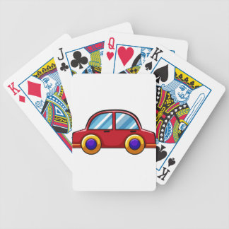 Toy car bicycle playing cards