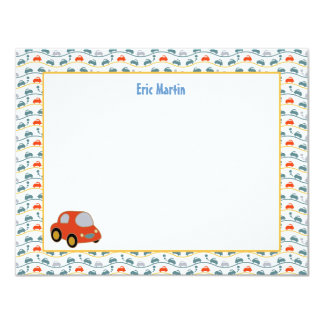 Toy Car Derby - Personalized Stationery Card