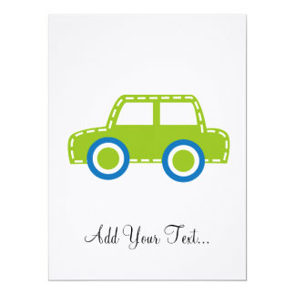 Toy Car 6.5x8.75 Paper Invitation Card