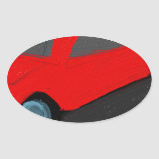 toy carro ride oval sticker